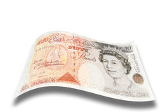 Fifty pound note. English fifty pound note with drop shadow Royalty Free Stock Photography