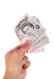Fifty pound notes Stock Photography