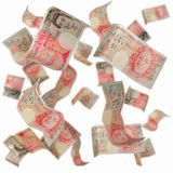Fifty pound notes. With blur to simulate depth Royalty Free Stock Photo