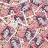 Fifty Pound Notes Stock Photo
