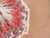 Fifty Pound notes Royalty Free Stock Images