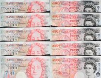 Fifty Pound Notes - Great Britain Stock Image