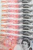Fifty Pound Notes - Great Britain Royalty Free Stock Images