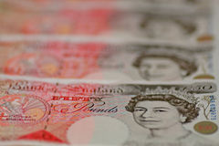 Fifty pound notes stock photos