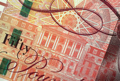 Bank of England Illustration. On a fifty pound note Royalty Free Stock Photography