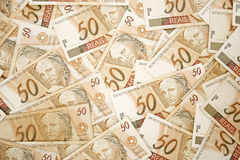 Fifty reais background Stock Photography