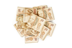 Fifty reais - Brazilian money Stock Images