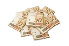 Fifty reais - Brazilian money Royalty Free Stock Photos
