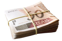 Fifty reais - Brazilian money Stock Photography