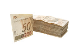 Fifty reais pile Stock Photo