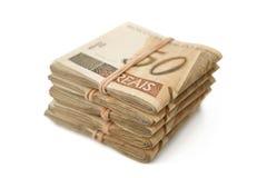 Fifty reais pile Stock Photo