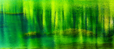 Fifty Shades of Green Summer Water Reflection Abstract Wenatchee Washington Stock Images