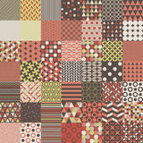 Fifty Simple Shapes Seamless Patterns Royalty Free Stock Images