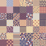 Fifty Simple Shapes Seamless Patterns Stock Images