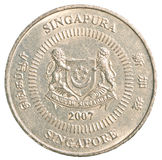 Fifty singaporean dollar cents coin royalty free stock photos