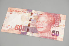 Fifty South African Rand. On gray background Stock Photography