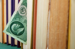 Fifty Soviet rubles with Lenin's image in the book Stock Photography