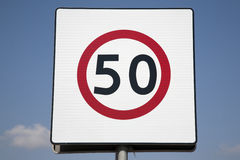 Fifty Speed Limit Sign Stock Images