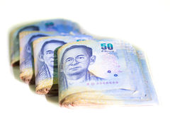 Fifty Thai baht  Banknotes, Print material Stock Photo