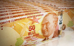 Fifty Turkish lira Stock Photo