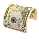Fifty US dollars isolated. Stock Photos