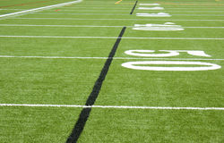Fifty yard line Royalty Free Stock Photography
