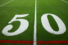 Fifty yard line Stock Image