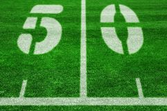 The fifty yard line Stock Photo