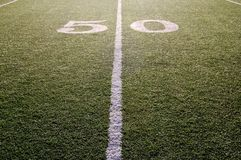 Fifty Yard Line royalty free stock image
