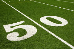 Fifty yard line Stock Images