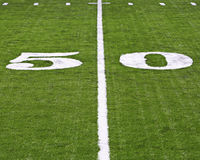 Fifty yard line Stock Photos