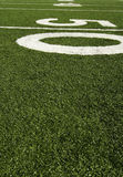 Fifty yard line Royalty Free Stock Images