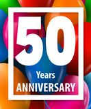 Fifty years anniversary. 50 years. Greeting card or banner concept. Vector illustration stock illustration