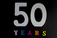 Fifty years. Stock Image