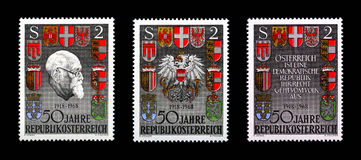 Fifty Years Republic Austria royalty free stock photo
