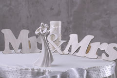 Figürchen-Braut und Bräutigam Lizenzfreies Stockfoto