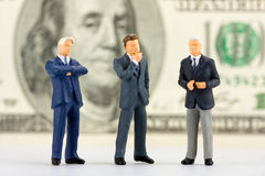 Figürchen des erfolgreichen Geschäftsteams Lizenzfreie Stockfotografie