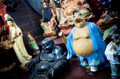 Figürchen des Piggy Charakters von der berühmten chinesischen neuen Reise nach dem Westen bei Tin Hau Temple, Yaumatei, Hong Kong Stockbild