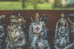 Figürchen von Rittern Stockbild