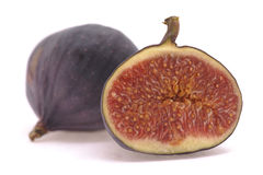 Fig. Fresh fig on a white background Royalty Free Stock Images