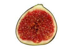 Fig. Half fig on white background Stock Photography