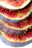 Fig. Sliced fig on white background separated Royalty Free Stock Photos