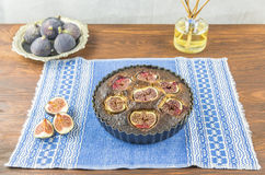 Fig and almond tart Stock Images
