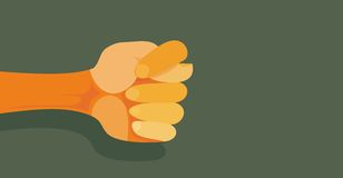 A fig as a negative gesture in vector Stock Images