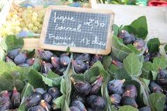 Fig. bij een Franse markt royalty-vrije stock afbeeldingen