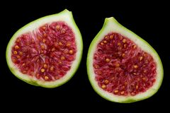 Fig in black background royalty free stock photos