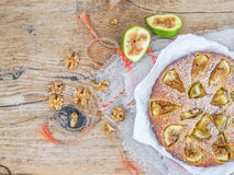 Fig cake with figs Stock Photo