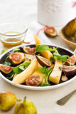 Fig with Cantaloupe and almond slice salad Stock Photo