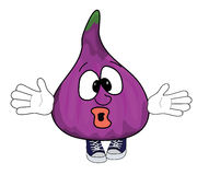 Fig cartoon character. Vector illustration of a fig cartoon character Royalty Free Stock Images
