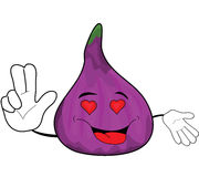 Fig cartoon character. Vector illustration of a fig cartoon character Stock Photography